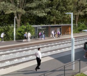 Agrandir Perspective de la station Bailly