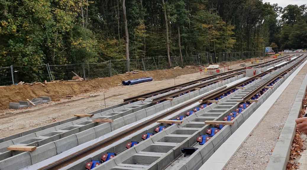Avancée des travaux à Saint-germain-en-Laye - Rails