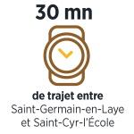 30 minutes de trajet entre Saint-Germain-en- Laye et Saint-Cyr-l'Ecole