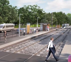 Agrandir Perspective de la station L'Etang - Les Sablons
