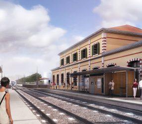 Agrandir Perspective de la station Lisiere-Pereire