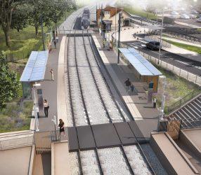 Agrandir Perspective de la station Saint-Nom-la-Bretèche - Forêt de Marly