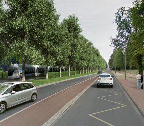 Agrandir Perspective de l'allée des Loges à Saint-Germain-en-Laye