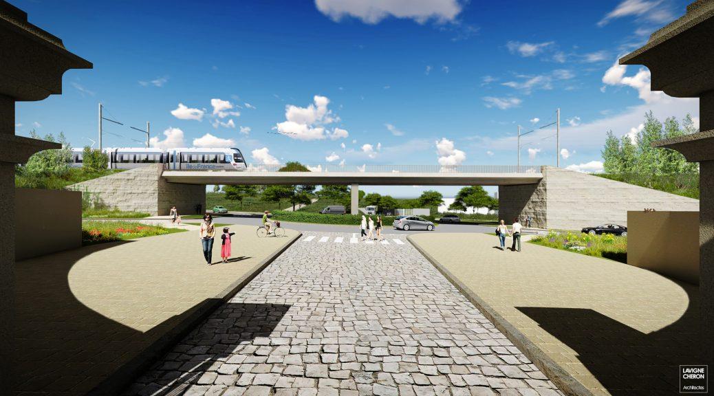 Perspective Pont-rail Ferme de Gally