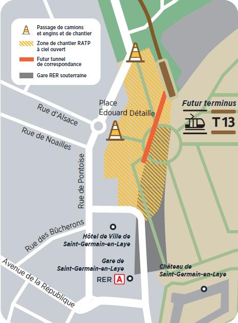 Plan travaux couloir de correspondance avec le RER A