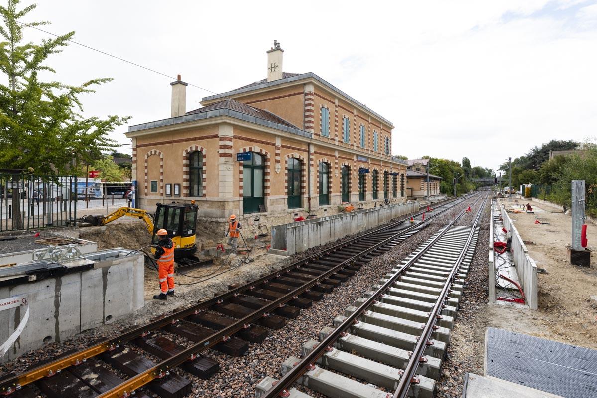 Travaux station Lisière Pereire (le 17/08/2020)