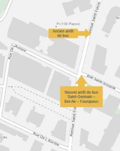 Plan du bus de substitution à Fourqueux - Bel-Air