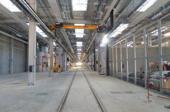 Intérieur de l'atelier de maintenance (novembre 2020)