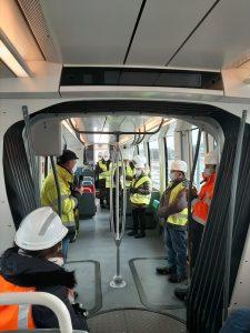 Visite de la rame du tram T13