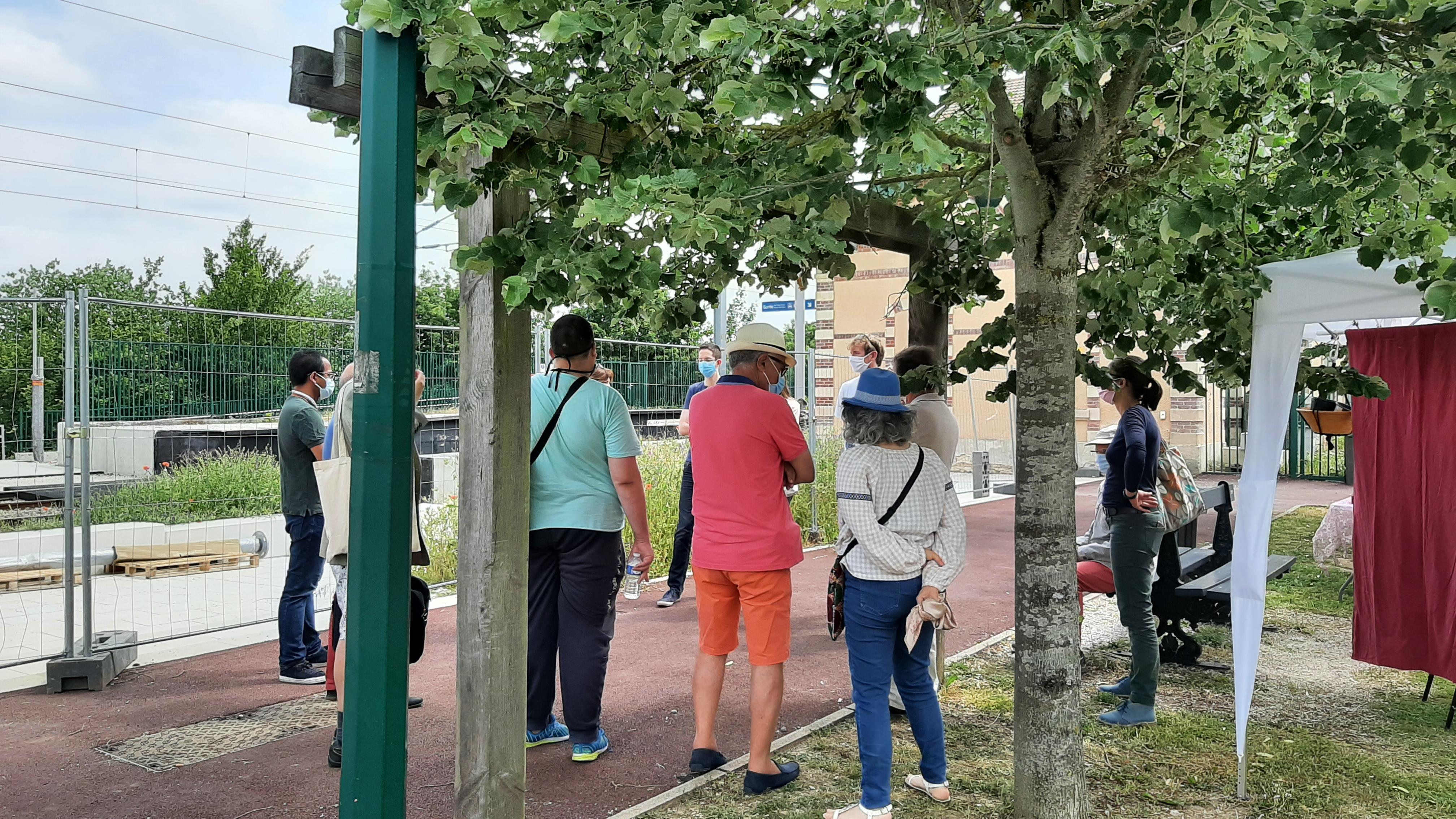 Visite de la station Mareil-Marly lors de la Fête du développement durable