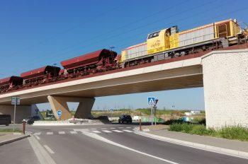 Test de portance sur le pont-rail de la RD7